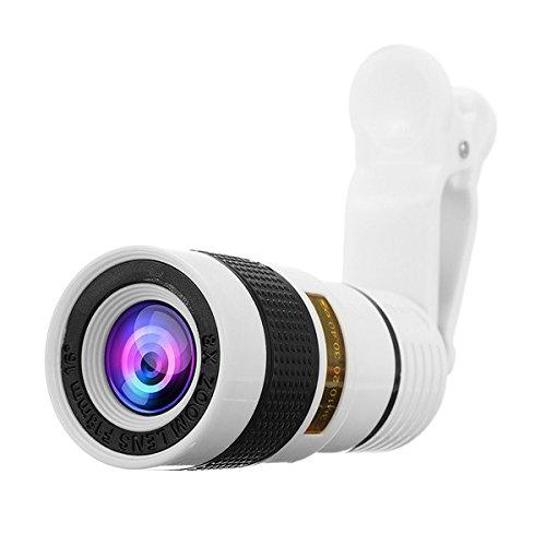 Tutoy 8X Zoom Optisches Teleskop Kameraobjektiv Mit Manuellem Fokus Teleobjektiv Für Smartphones Tablet - Schwarz