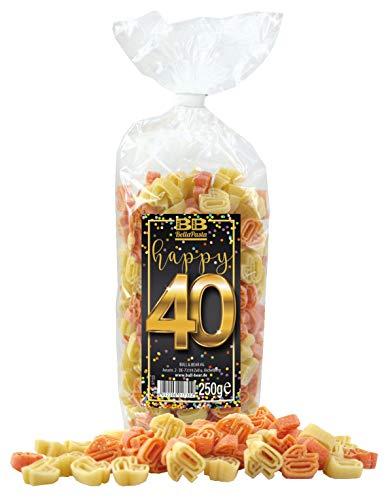 """Geburtstags-Nudeln """"Pasta Happy 40"""""""