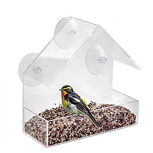 Bird Feeder Hanging Acryl Bird Feeder Transparenter Vogelkäfig Hausform Acryl Pet Bird Feeder Einfach zu füttern