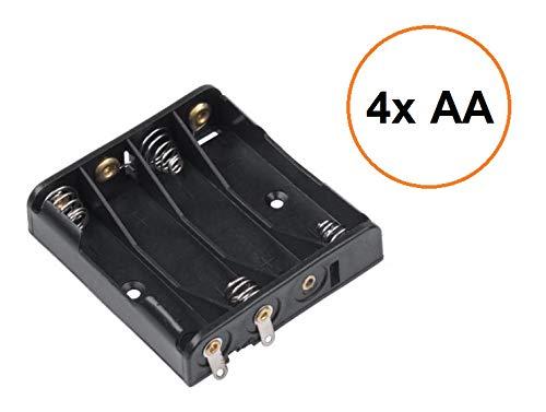 Batterijhouder behuizing box voor 2-3-4 Mignon AA/Micro AAA/BH-9VPC batterijen accu houder batterijhouder accuhouder accuhouder inbouwbatterijhouder reservebatterijhouder 4x Mignon AA-Batterien parallel
