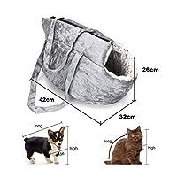YOUPIN 猫のバックパックのパニエのハンドバッグのためのベルベット猫キャリアバッグ猫旅行ぬいぐるみ猫バッグバックパックベッド子犬ペットキャットアクセサリー (Color : White)