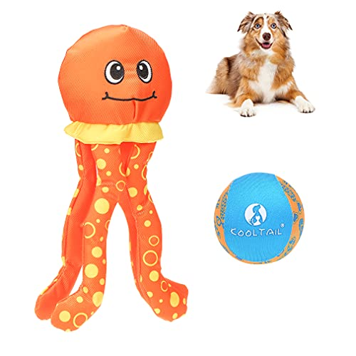 Dog Floating Squeaky Toys with Ball - Dog Pool Toys Dog Squeaky Toy Durable...