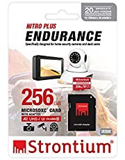 STRONTIUM 256GB Nitro Plus Endurance A2 MicroSDXC Card with SD Adapter