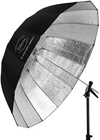 Glow Easy Lock X Large Deep Beaded Silver Fiberglass Umbrella 65 product image