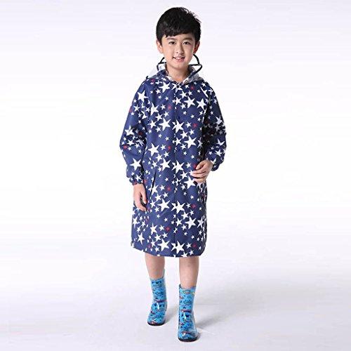 Vestes anti-pluie QFF Child Raincoat Boys and Girls Student Baby Poncho Protection de l'environnement sans goût (Taille : XL)