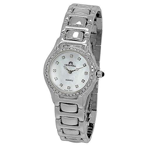 Reloj oro blanco 18k Cromwell mujer brillo bisel e indicadores diamantes brillantes esfera nácar