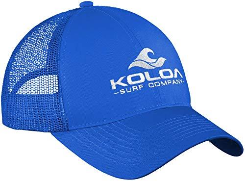 Koloa Surf Wave Classics Retro Trucker Cap - Mesh Snapback Hat-Royal/w