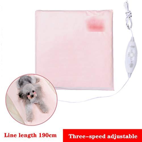 Qianc Elektrische deken voor huisdieren, katten met 3 instelbare temperatuurniveaus, vermogen 20-40 W, verwarmingskussen voor honden en waterdicht