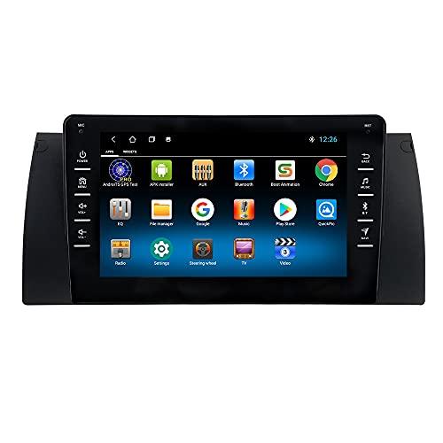 Android 10 Autoradio para BMW E39/E53/M5/E38 para BMW Radio GPS Navegador Control del Volante Bluetooth Manos Libres WiFi 4G USB Enlace Espejo Dab+ Entrada de Vista Trasera