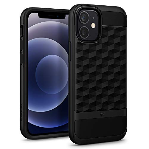 Caseology Parallax Compatible with iPhone 12 Mini Case (2020) - Matte Black