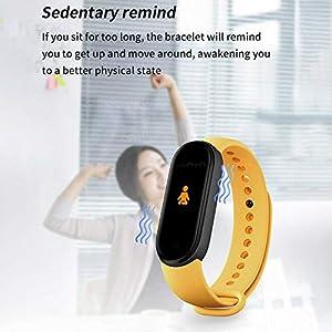 ZSGG Reloj inteligente Fitness Tracker 0.96 pulgadas Color pantalla Sport Band impermeable, Bluetooth Smartband pulsera con podómetro ritmo cardíaco monitor de presión arterial