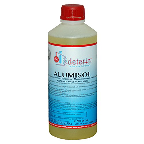 Alumisol detergente limpiador ultrasónico. Especialmente formulado para desengrasar, restaurar y potenciar el brillo natural de las piezas de aluminio y acero del automóvil.