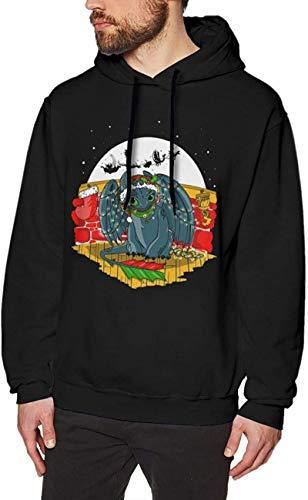 How to Tr_Ain Your Dra_Gon Hoodie Sweatshirt Man Cotton Long Sleeve Pullover Swearshirt Drawstring Hoody Tops,Black,3X-Large