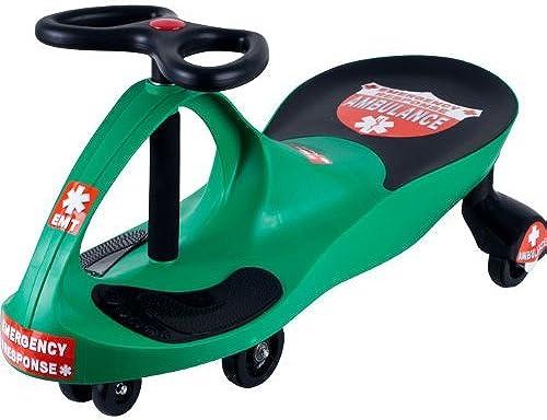 Lil' RiderT Grün Responder Ambulance Wiggle Ride-on Car [80-1288GR] - by Trademark