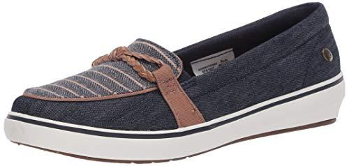 Grasshoppers womens Windsor Knot Braid Denim Stripe Sneaker, Navy, 7.5 US