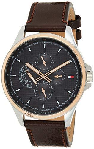 Tommy Hilfiger 1791615 - Reloj analógico de cuarzo para hombre, multifunción, estilo casual, color gris