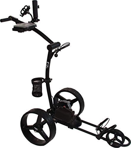 Elektro Golf Trolley PGE 3.1, USB, 12V 20Ah Lithium Batterie, viel Zubehör, schwarz