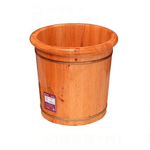CHY Bois Bain De Pieds Baignoire, Pédicure Spa Bassin Bucket Foot Spa Bain Ménage Footbath Seau Et Soaker Bowl (Color : Wood Color)