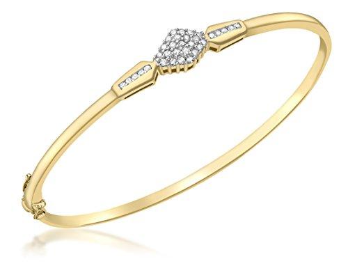 Carissima Gold Pulsera de mujer con oro amarillo de 9 quilates (375/1000), diamante