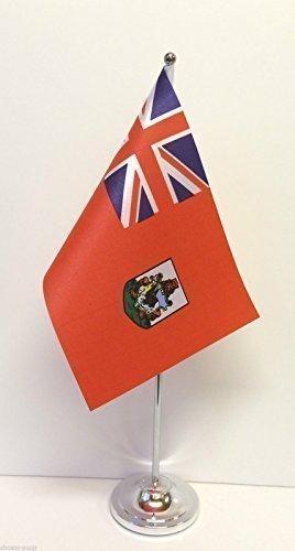 Bermudas de la bandera de mesa bandera de Base de cromo