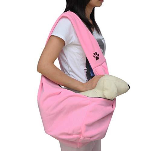 YOUJIA Reversibel Hundetragebeutel Kleine Hunde Katze Tasche Hundetasche Haustier Tragetasche Tragetücher (47 * 23 * 20cm, Pink)