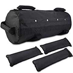 Idea Regalo - Jecxep - Sandbag per attività fisica, regolabile, per fitness e allenamento con i pesi, con 3 sacchetti zavorra interni, per esercizio fisico funzionale intenso