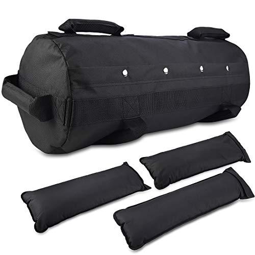 Jecxep - Sandbag per attività fisica, regolabile, per fitness e allenamento con i pesi, con 3 sacchetti zavorra interni, per esercizio fisico funzionale intenso