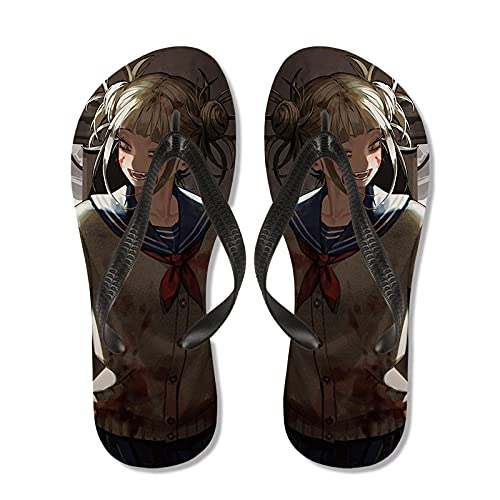 Unisex My Hero Academia Flip Flaops Anime Casual Playa Flip-Flops Cosplay Slippers Sandalias Hogar Sandalias Sleido-031_Niño L (35-36)