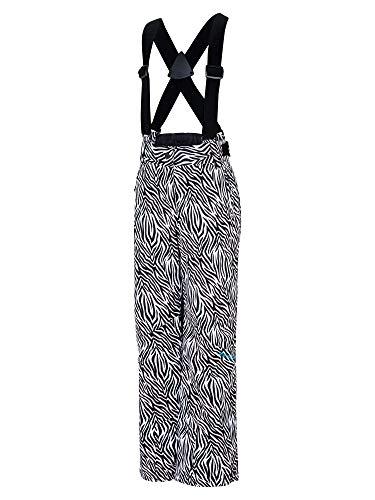 Ziener meisjes AVATINE jun (pant ski) kinderskibroek, winterbroek/waterdicht, winddicht, warm, wilde zebra print, 104