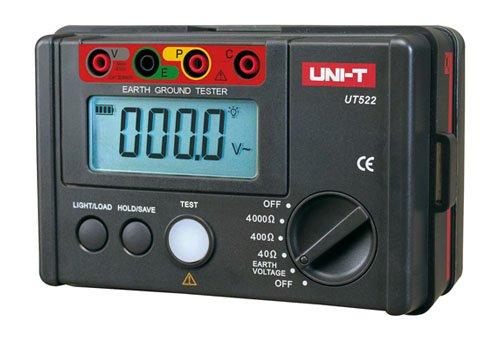 Uni-T ut-522Messgerät Widerstand von Terra, schwarz