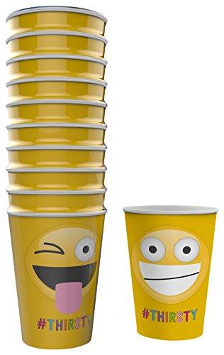 NPW Emoticon Party Pappbecher–Sortiert Papier Tassen Get emojinal
