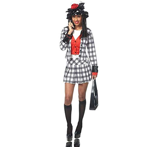 Adult Dionne Notionless BFF Costume, Large, Black/White