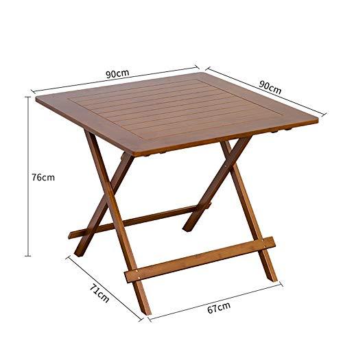 Home Beistelltische Massivholz-Laptoptisch Lazy Table Faltbares Schlafsofa für Studententische mit Kleinem Tisch, Freizeittisch, BOSS LV, 90 * 90 * 76 cm