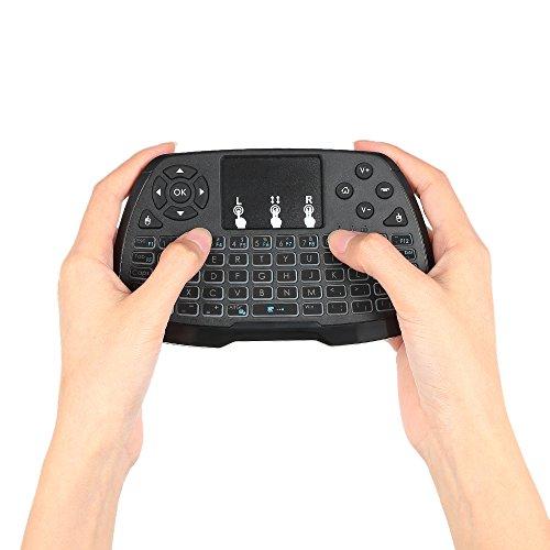 Docooler 2,4 GHz Mini Clavier sans Fil Souris Touchpad Télécommande à Main pour Android TV Box Smart TV PC Notebook(No Batterie)