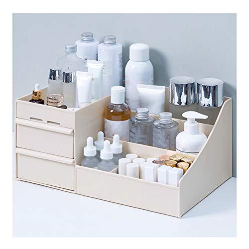 ZHANGYAN Aufbewahrung Großer kosmetischer Aufbewahrungsbox, Schubladenart Kosmetische Aufbewahrungsbox, Kosmetik, Pflegeprodukte Desktop Organizer Großraum Aufbewahrungsbox (Color : Khaki)