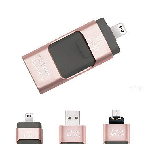 Yotron - Memoria USB de 32 GB Compatible con iPhone, iPad, iPod, Mac, Android y Ordenador