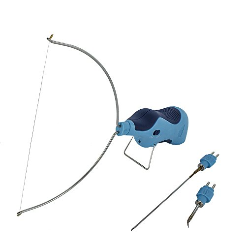 Modelcraft PSS1060 Herramienta quemador 3 en 1, con cuchilla, quemador de alambre y cortador, color azul y plateado