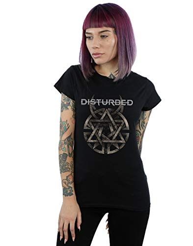 Disturbed Damen Metal Logo T-Shirt Schwarz Medium