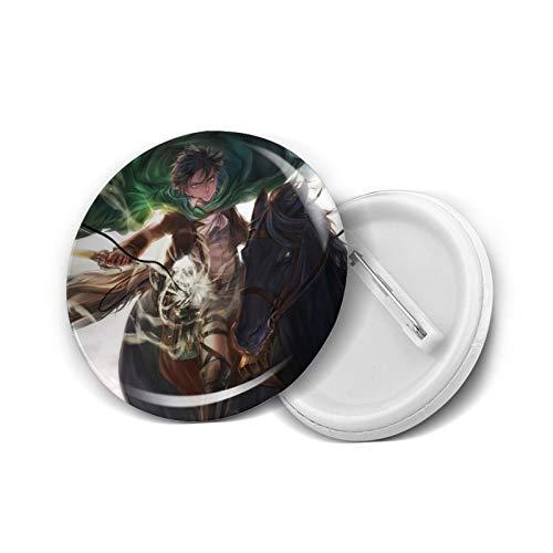 Insignia redonda de Attack-on-Titan fácil de llevar, decorativa y moderna personalidad