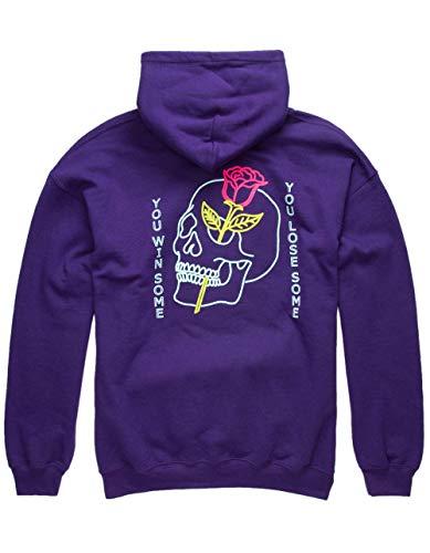 FRESH VIBES Win or Lose Hoodie, Purple, Large