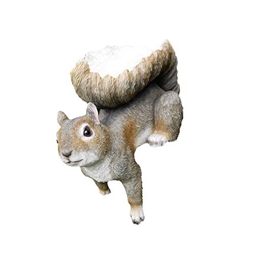 Resin Chipmunk Bird Feeder - Sturdy Resin Hanging Bird Feeders - Outdoor Bird Tables For Birds Squirrel- Garden Sculpture Ornaments For Trees,Patio, Porch, Pathway, Yard