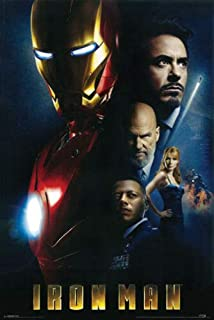 Hotstuff Iron Man (2008) Movie Poster Robert Downey Jr Marvel Comics Avengers 24