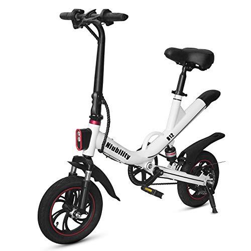 Roeam Bicicleta eléctrica Plegable de 12 Pulgadas con Asistencia eléctrica, Rango de...