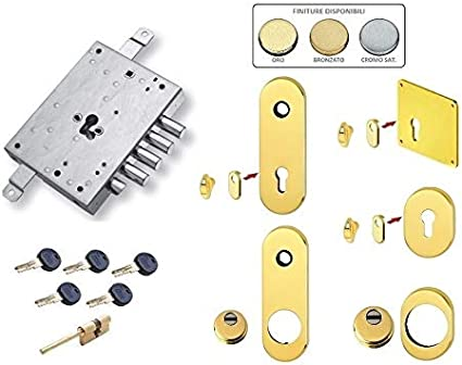 KIT DI ACCESSORI DEFENDER SERRATURA PORTA BLINDATA MOTTURA SECUREMME CISA DIERRE