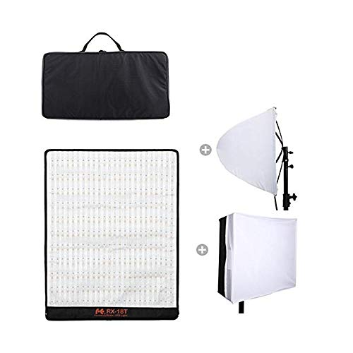 Falconeyes RX-18T Foldable Roll-Flex LED Light Kit 5600k + RX-18OB Extended Softbox Diffuser + RX-18SB Standard Diffuser