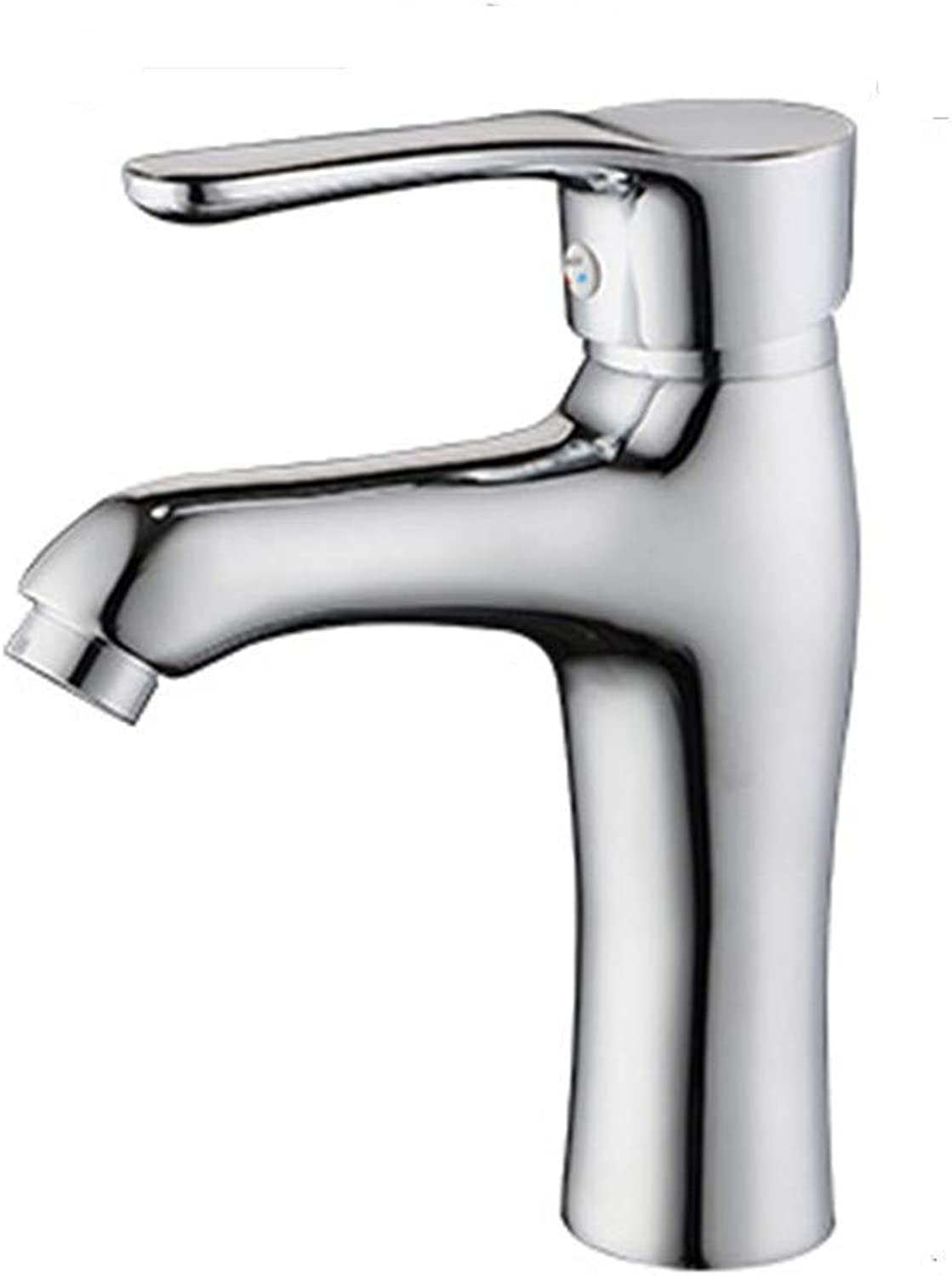 Chrome-Plated Brass Faucet Hot and Cold Washbasin Faucet Copper Body Above Counter Basin Faucet Single Hole Faucet