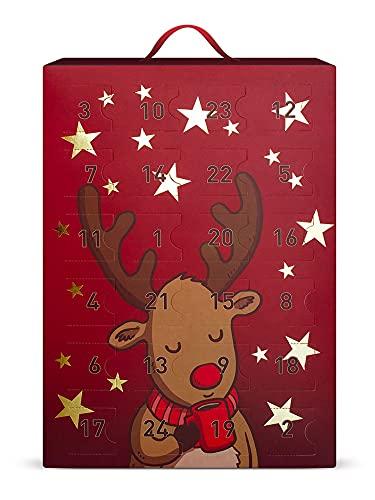 SIX Schmuck-Adventskalender: 24 Überraschungen in Form schöner Schmuckstücke wie Ohrringe, Ketten und Armbänder, Kalender zum Aufhängen oder Hinstellen (388-319)