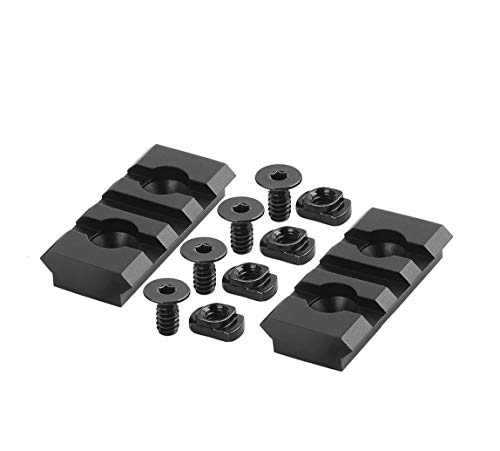 LIRISY 3 Slot Picatinny Rail, 2PCS Picatinny Weaver Rail Sections for Handguard Picatinny Bipod…
