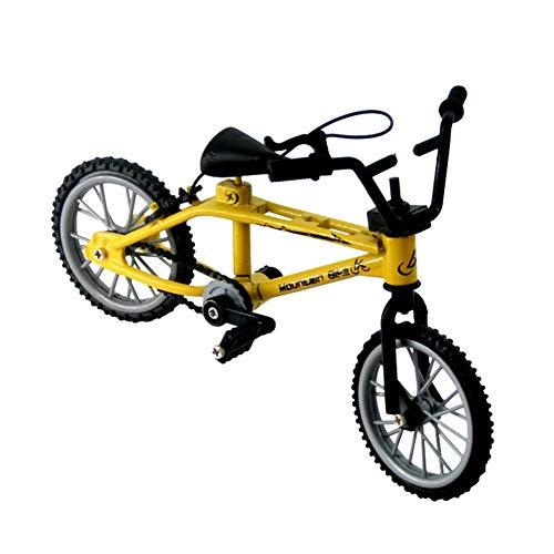 Easy-topbuy Mini Finger Bike Miniaturfahrrad Langlebiges Metallspielzeug Fingerfahrrad Für Mini-Extremsportjungengeschenke, Mit Retro-Doppelstange