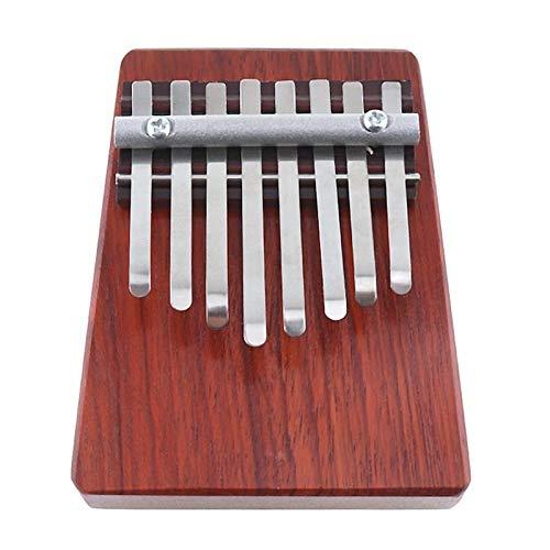 XSWY 8 Tasten Mini Finger Piano Kalimba Thumb Traditionelle afrikanische Musik Instrucments Einfach zu verwenden (Farbe : Teak Color)